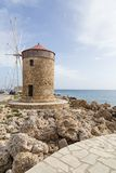 Harbour of old town Rhodes in Greece Royalty Free Stock Images