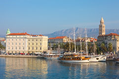 Harbour Old town Split Royalty Free Stock Photos