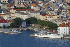 Harbour in Pag royalty free stock photo