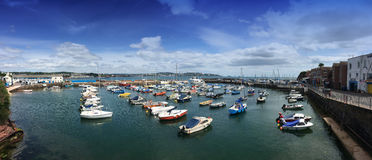 The harbour in Painton Devon UK. Panoramic view of the harbour in Paignton Devon UK Royalty Free Stock Images