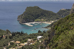The harbour of Paleokastritsa, Corfu Stock Photography