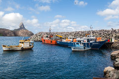 Harbour and Pico Hill Fernando de Noronha Brazil Royalty Free Stock Photography
