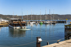 Harbour on pier of Knysna, Garden Route, South Africa Royalty Free Stock Photo
