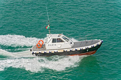 Harbour pilot boat Stock Images