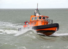 Harbour pilot boat Stock Photo