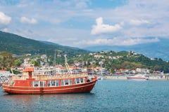 Harbour of Platamonas. Macedonia, Greece Royalty Free Stock Photography