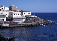 Harbour, Playa de los Abrigos, Tenerife. Stock Photo