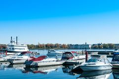 Harbour And Pleasure Boats Royalty Free Stock Photos