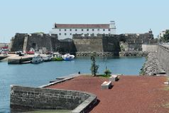 Harbour at Ponta Delgada Stock Photos