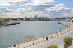 Harbour and Port at Valencia. Spain Stock Images