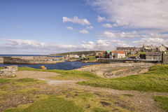 Harbour at Portsoy on Moray Firth royalty free stock photos