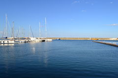 Harbour, Portul Tomis. Harbour from Portul Tomis, Constanta. Clear sky, calm water Stock Images