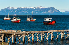 Harbour at Puerto Natales Royalty Free Stock Image