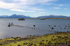 Harbour Puerto Natales, Patagonia Stock Photo