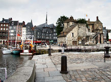 Harbour and Quay. In the Historic  Seaside Town of Honfleur in Normandy, France Royalty Free Stock Photo