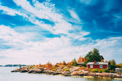 Harbour And Quay, Island Near Helsinki, Finland Royalty Free Stock Images