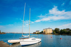 Harbour And Quay Yacht In Summer Day. Helsinki Stock Photos
