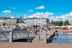 Harbour and quayside. Helsinki, Finland, EU Stock Photography