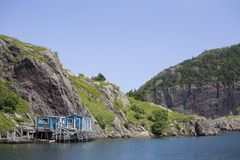 Harbour at Quidi Vidi, Newfoundland Royalty Free Stock Photography