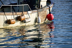Harbour Reflections - Lyme Regis Royalty Free Stock Photo
