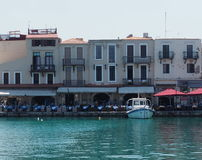 Harbour In Rethymno Crete Greece Stock Photography