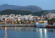 Harbour of Rethymnon. (Crete, Greece Royalty Free Stock Photos