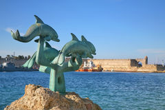 Harbour of Rhodes Royalty Free Stock Photography