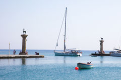 Harbour at Rhodes, Dodecanese, Greece Stock Images
