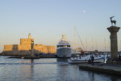 Harbour in Rodhes City royalty free stock images
