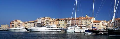 Harbour of Saint Tropez. Picturesque harbour of Saint Tropez, France stock image