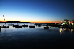 Harbour salento sunset Royalty Free Stock Photos