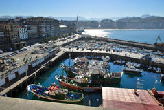 The harbour of San Sebastian Royalty Free Stock Photography