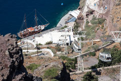 Harbour Santorini Stock Image