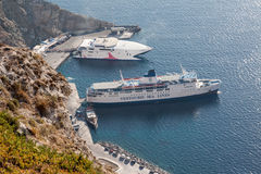 Harbour Santorini Stock Photography