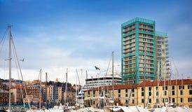 Harbour of Savona, Italy Stock Photo