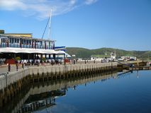 Harbour Scene. The harbour and cafes in the Knysna Waterfront, South Africa Royalty Free Stock Photography