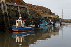 Harbour scene, Amlwch, Anglesey stock photography