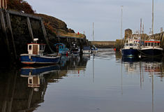 Harbour scene, Amlwch, Anglesey. Harbour scene with fishing boats ,Amlwch, Anglesey Stock Photography