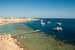 Harbour scene in Egypt Stock Photography