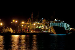 Harbour Scene at Night Stock Photos