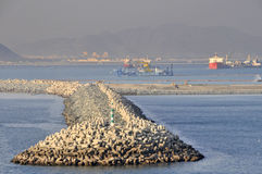Harbour sea defences Stock Photography