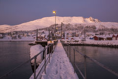 Harbour at Senja Island Royalty Free Stock Images