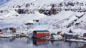 Harbour of Seydisfjordur in Iceland Stock Photography