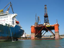 Harbour - shipping dock Stock Photography