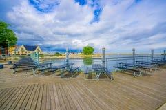 Harbour in Simrishamn, Sweden Royalty Free Stock Photo