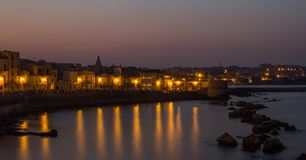 Harbour of Siracusa,Italy. Harbour of Siracusa in Sicily Italy Royalty Free Stock Photography