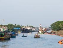 The Harbour in Sittwe, Myanmar Stock Photo