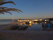 The Harbour at Skala Kalloni Lesvos Greece royalty free stock photography