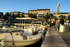 Harbour in Split Croatia Stock Photo