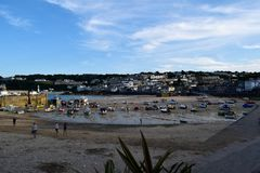 The harbour at St Ives, Cornwall, UK royalty free stock photo